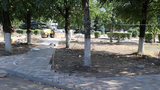 Центральная площадь Кировска продолжает обновляться — фото Центральная площадь, Кировск, благоустройство